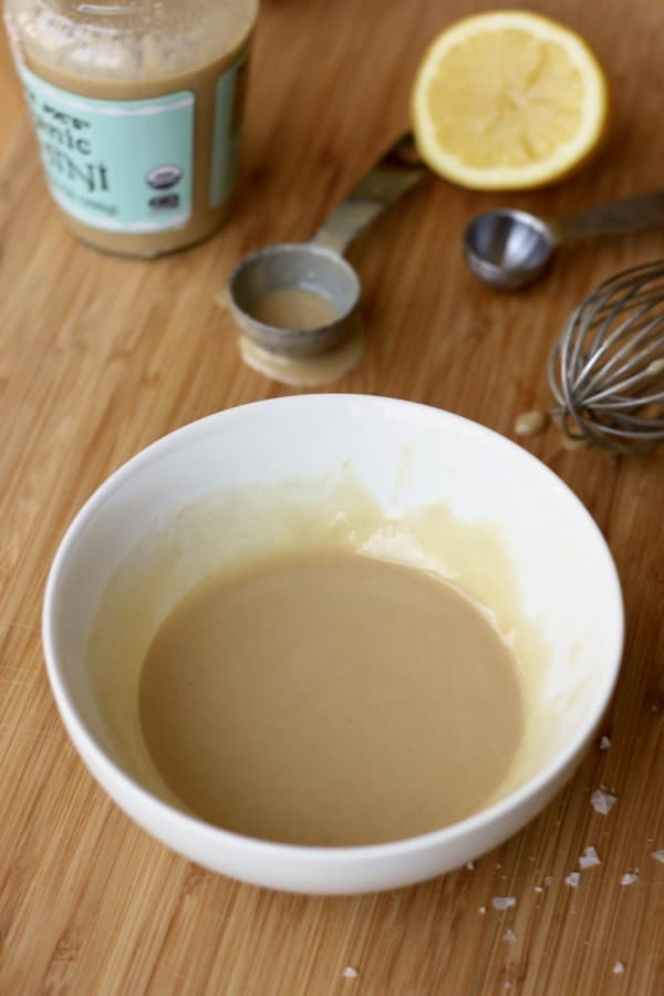 Lemon tahini sauce for roasted cauliflower