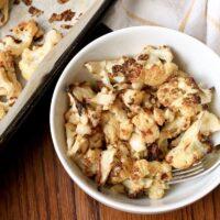 Tahini Roasted Cauliflower {Vegan, Keto, Whole30}