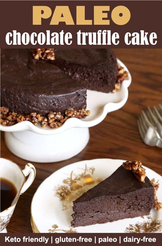 paleo chocolate truffle cake