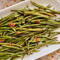 Roasted Harissa Green Beans