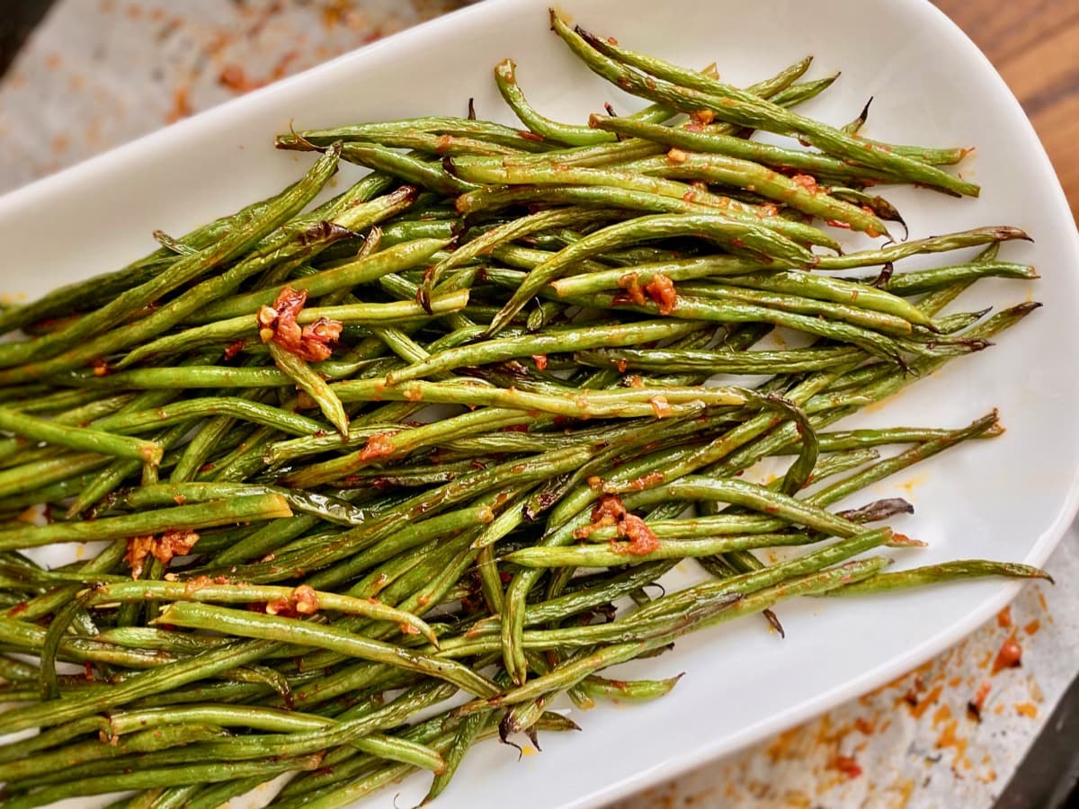 whole 30 compatible harissa green beans