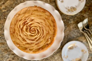 paleo apple honey upside down cake rose shaped