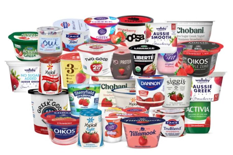 what yogurt is healthy? evaluation of top selling strawberry flavored yogurts