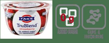 fage trublend strawberry greek yogurt nutrition information