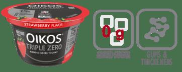 oikos triple zero strawberry greek yogurt nutrition information