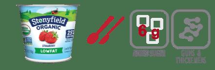 stonyfield strawberry yogurt nutrition information