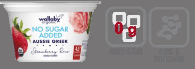 wallaby no sugar added aussie greek strawberry yogurt nutrition information