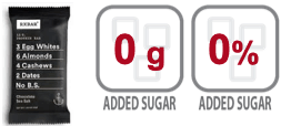 RXBar Chocolate Sea Salt nutrition information