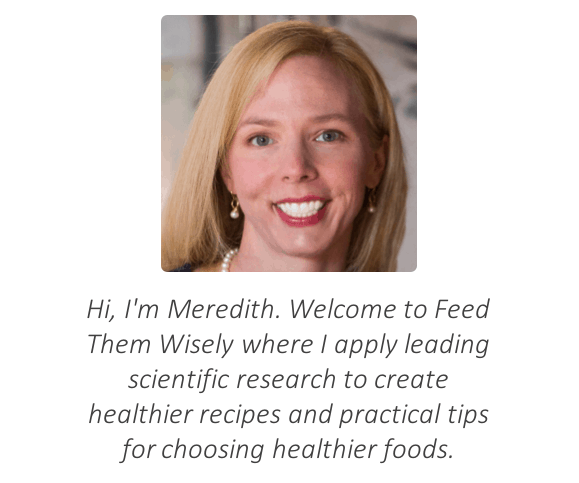 Feed Them Wisely is written by Meredith Kauffman, PhD