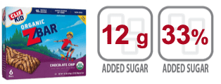 clif kid zbar chocolate chip granola bar nutrition information