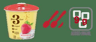 yoplait just 3 strawberry yogurt nutrition information