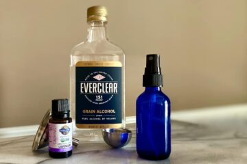 Homemade 66% alcohol Lavender Scented Hand Sanitizer made with Everclear