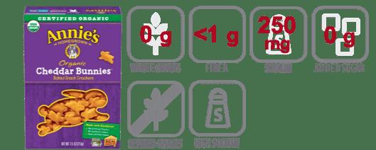annies cheddar bunnies nutritional information