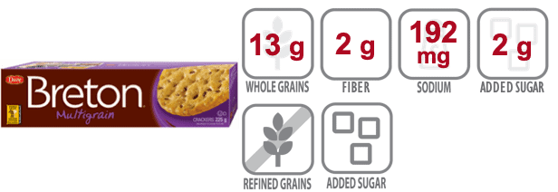 breton multigrain crackers nutritional information