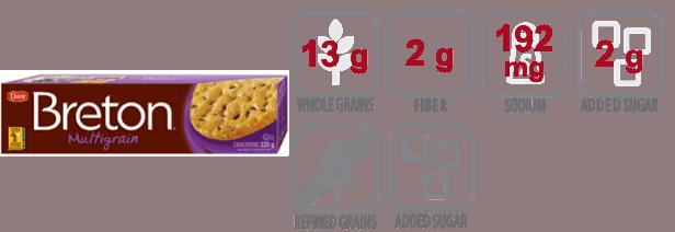 breton multigrain crackers nutritional information