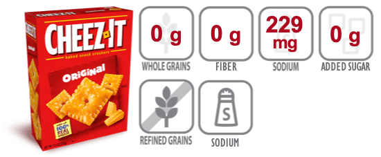 cheez it crackers nutritional information