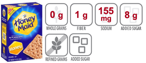 honey maid graham crackers nutritional information