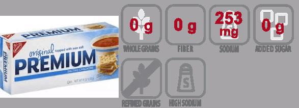 nabisco saltine crackers nutritional information