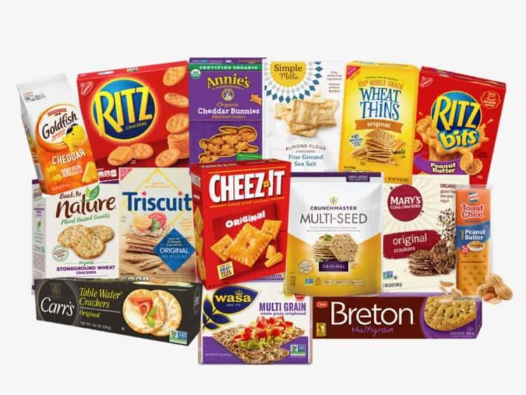 what are the healthiest crackers? pictures of popular crackers evaluated