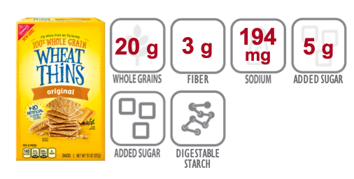 wheat thins nutritional information
