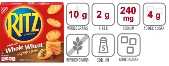 whole wheat ritz crackers nutritional information