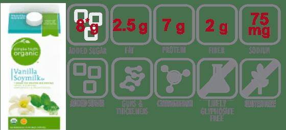 Simple Truth Organic Vanilla Soymilk nutritional information