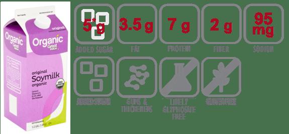 great value organic original soymilk nutritional information