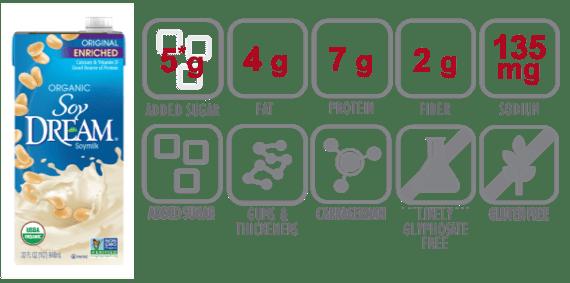 soy dream original enriched soymilk nutritional information