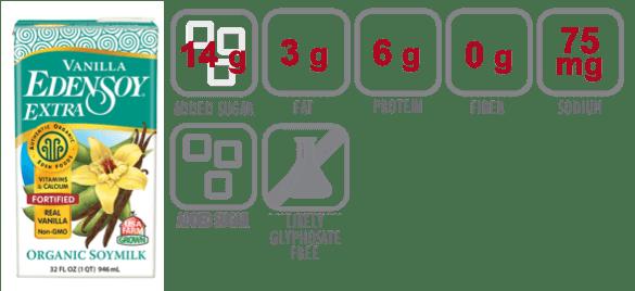 edensoy organic vanilla soymilk nutritional information